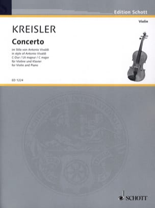 Fritz Kreisler - Violin Concerto C major - Sheet Music - di-arezzo.co.uk