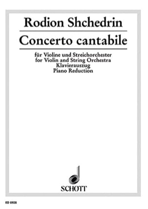 Rodion Shchedrin - Cantabile Concerto - Sheet Music - di-arezzo.co.uk