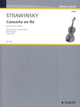 Igor Stravinsky - Violin Concerto - Sheet Music - di-arezzo.co.uk