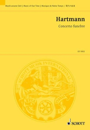 Concerto Funebre 1939/59 Karl Amadeus Hartmann Partition laflutedepan