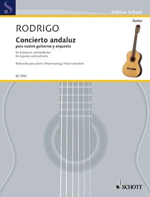 Concierto Andaluz RODRIGO Partition Guitare - laflutedepan