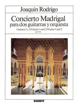 Concierto Madrigal - Gitarre 1 et 2 RODRIGO Partition laflutedepan