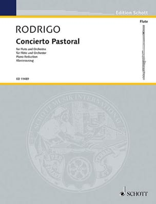 Joaquín Rodrigo - Concierto Pastoral – Flöte Klavier - Partition - di-arezzo.fr