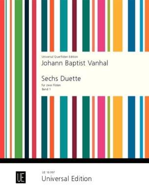 6 Duette - Band 1 - 2 Flöten Johann Baptist Vanhal laflutedepan