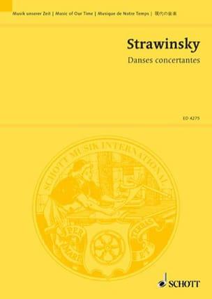 Danses concertantes - Partitur STRAVINSKY Partition laflutedepan
