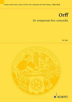 De temporum fine comoedia – Partitur - Carl Orff - laflutedepan.com