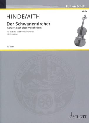 Paul Hindemith - Der Schwanendreher (1935) - Partition - di-arezzo.fr