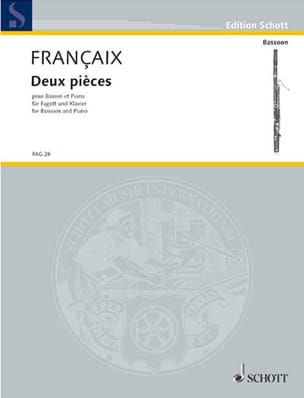 Jean Françaix - 2 rooms - Sheet Music - di-arezzo.com