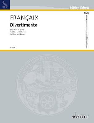 Jean Françaix - Divertimento - Partition - di-arezzo.fr