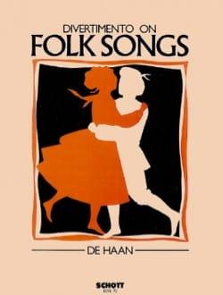 Divertimento on folk Song - Score + parts Stefan de Haan laflutedepan