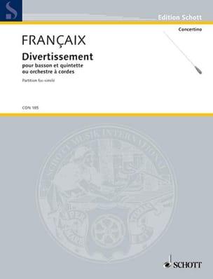 Jean Françaix - Divertissement - basson, quintette cordes – Score - Partition - di-arezzo.fr