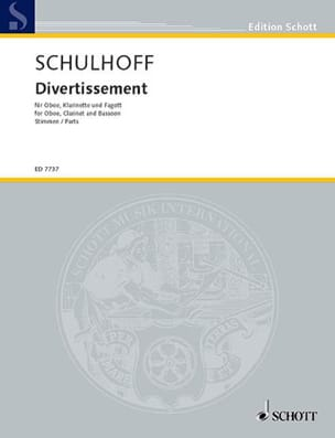 Divertissement - Stimmen Erwin Schulhoff Partition laflutedepan