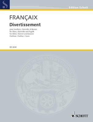 Divertissement - Jean Françaix - Partition - laflutedepan.com