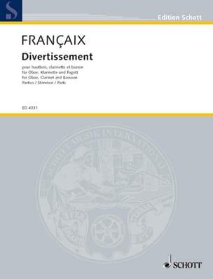 Divertissement Stimmen - Oboe Klarinette Fagott FRANÇAIX laflutedepan