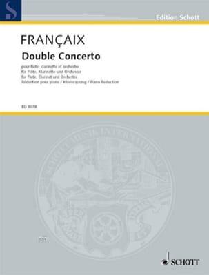 Double Concerto 1991 -flûte clarinette et piano FRANÇAIX laflutedepan