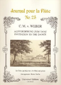 Carl Maria von Weber - Aufforderung zum Tanz - Flöte Klavier - Partitura - di-arezzo.es
