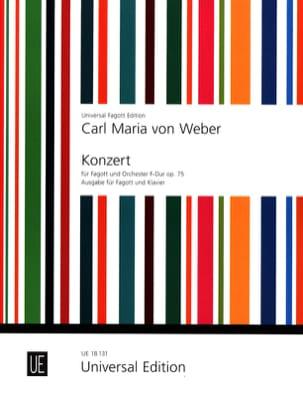 Carl Maria von Weber - Konzert F-Dur, op. 75 –Fagott Klavier - Partition - di-arezzo.fr