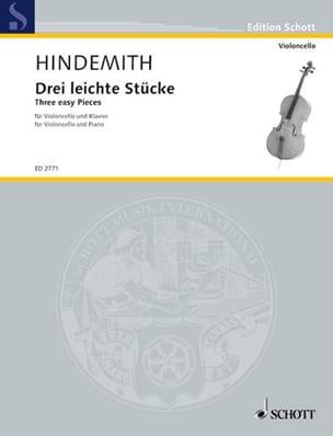 Drei Leichte Stücke HINDEMITH Partition Violoncelle - laflutedepan