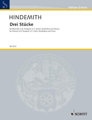 Paul Hindemith - 3 Stücke -5 Instrumente - Partitur + Stimmen - Partition - di-arezzo.fr