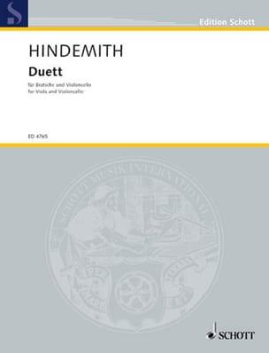 Paul Hindemith - Duett – Viola und Violoncello - Partition - di-arezzo.fr