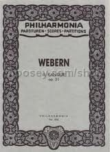 Kantate Nr. 2 op. 31 - Partitur - Anton Webern - laflutedepan.com