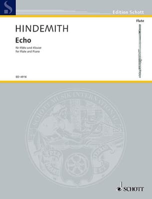 Paul Hindemith - Eco - Flöte Klavier - Partitura - di-arezzo.es