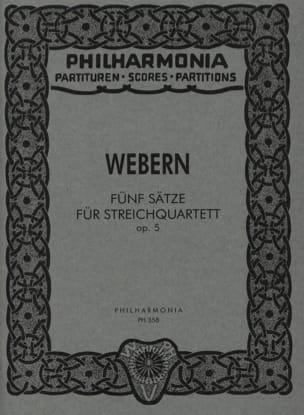Anton Webern - 5 Sätze für Streichquartett op. 5 - Partitur - Partition - di-arezzo.fr