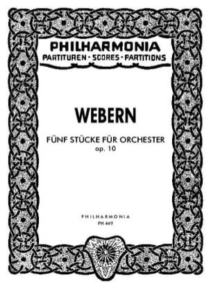Anton Webern - 5 Stücke für Orchester op. 10 – Partitur - Partition - di-arezzo.fr