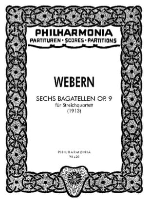 Anton Webern - 6 Bagatellen op. 9 - Partitur - Sheet Music - di-arezzo.co.uk