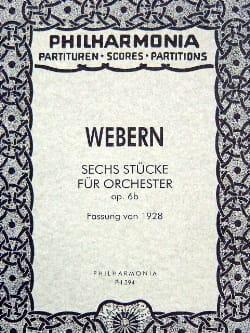 6 Stücke für Orchester op. 6b - Fassung 1928 - Partitur - laflutedepan.com