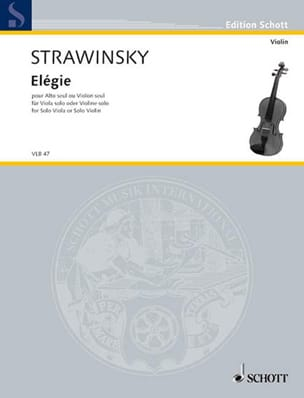 Igor Stravinsky - Elegy - Sheet Music - di-arezzo.co.uk
