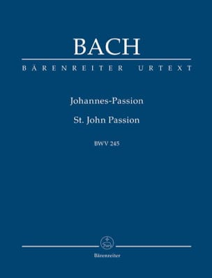 BACH - Passion selon Saint-Jean - Partition - di-arezzo.fr