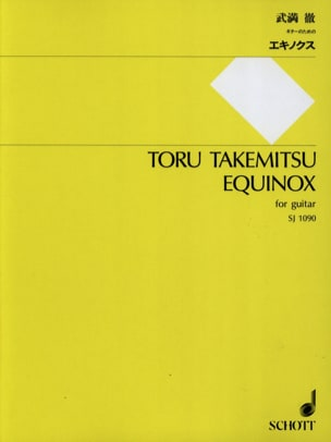 Toru Takemitsu - Equinox - Partition - di-arezzo.fr
