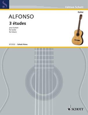 Nicolas Alfonso - 3 estudios - Partitura - di-arezzo.es