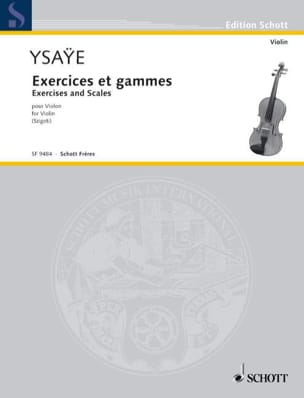 Eugène Ysaye - Exercises and Ranges - Sheet Music - di-arezzo.co.uk