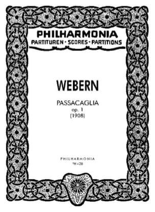 Anton Webern - Passacaglia op. 1 - Partitur - Partitura - di-arezzo.es