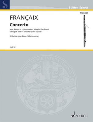 Jean Françaix - Bassoon Concerto - Sheet Music - di-arezzo.co.uk