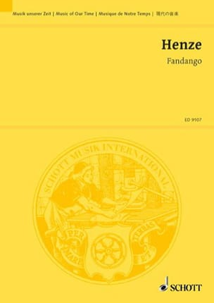 Hans Werner Henze - Fandango - Partition - di-arezzo.fr