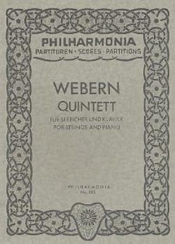 Anton Webern - Quintett - Partitur - Sheet Music - di-arezzo.co.uk