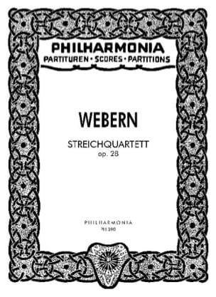 Streichquartett op. 28 - Partitur WEBERN Partition laflutedepan