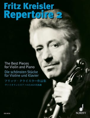 Fritz Kreisler - Fritz Kreisler Repertoire, Volume 2 - Sheet Music - di-arezzo.co.uk