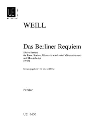Das Berliner Requiem – Partitur - Kurt Weill - laflutedepan.com