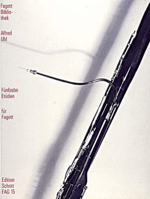 Alfred Uhl - Fünfzehn Etüden - Fagott - Partitura - di-arezzo.es
