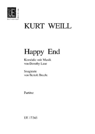 Happy End - Partitur WEILL Partition Grand format - laflutedepan