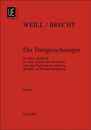 Kurt Weill - Die Dreigroschenoper - Partitur - Partition - di-arezzo.fr