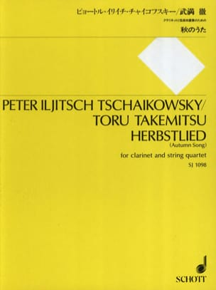 Herbstlied Autumn Song - TCHAIKOVSKY - Partition - laflutedepan.com