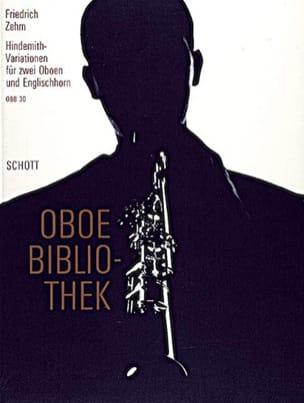 Friedrich Zehm - Hindemith-Variationen für 2 Oboen u. Englischhorn - Sheet Music - di-arezzo.co.uk