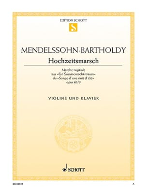 MENDELSSOHN - Hochzeitsmarsch op. 61 n ° 9 - Sheet Music - di-arezzo.co.uk