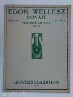 Egon Wellesz - Sonata op. 31 - Violoncello solo - Sheet Music - di-arezzo.co.uk