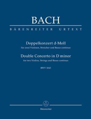 Konzert D-Moll, BWV 1043 - Conducteur BACH Partition laflutedepan
